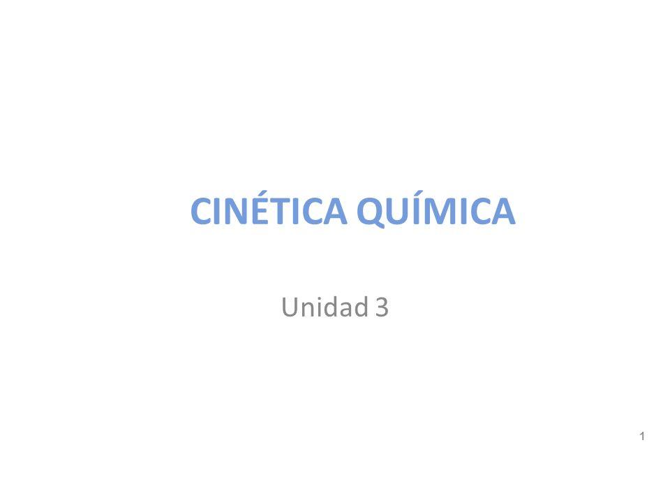 CINÉTICA QUÍMICA Unidad 3 Relación [A] con t